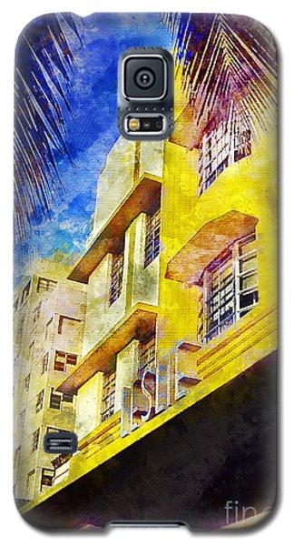 The Leslie Hotel South Beach Galaxy S5 Case by Jon Neidert