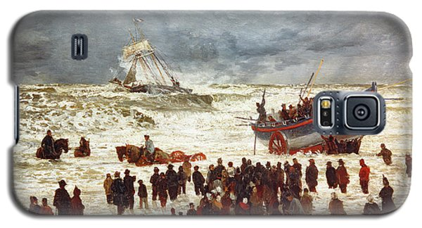 Boat Galaxy S5 Case - The Lifeboat by William Lionel Wyllie