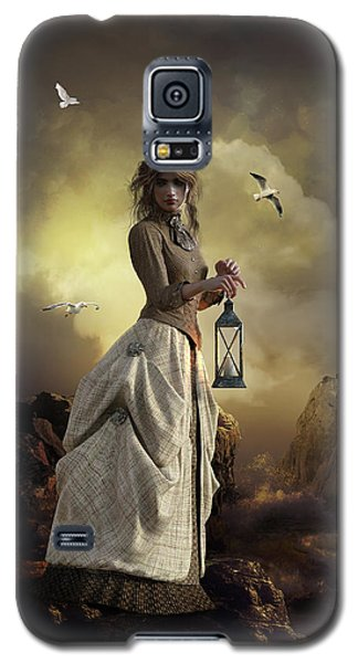 Galaxy S5 Case featuring the digital art The Lighthouse Keeper's Daughter by Shanina Conway