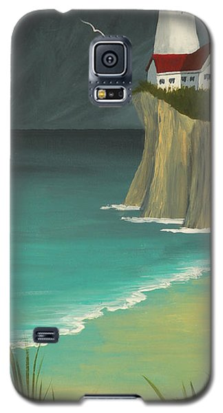 The Lighthouse On The Cliff Galaxy S5 Case