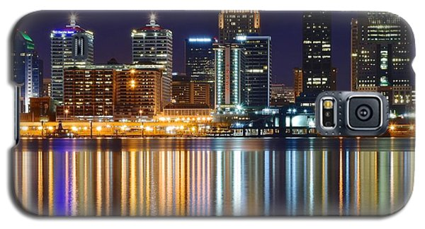 The Lights Of A Louisville Night Galaxy S5 Case by Frozen in Time Fine Art Photography