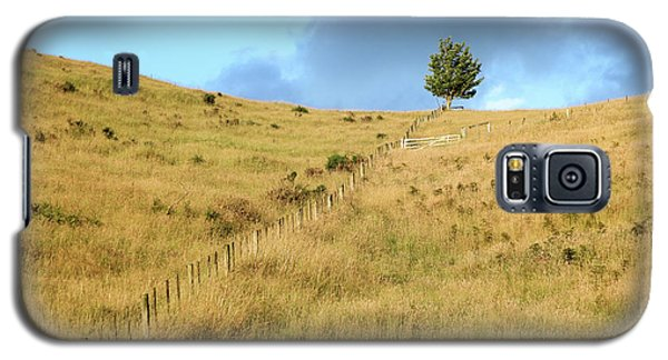 Galaxy S5 Case featuring the photograph The Lines The Tree And The Hill by Yoel Koskas