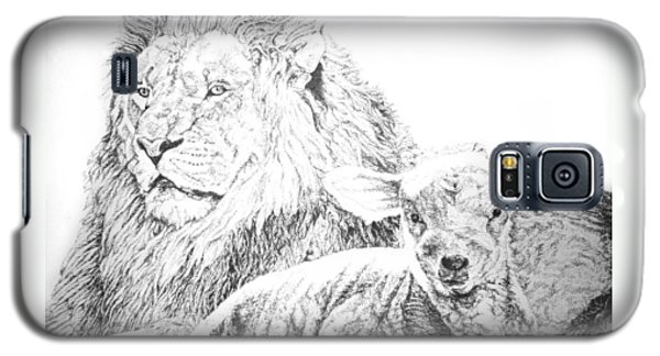 The Lion And The Lamb Galaxy S5 Case by Bryan Bustard