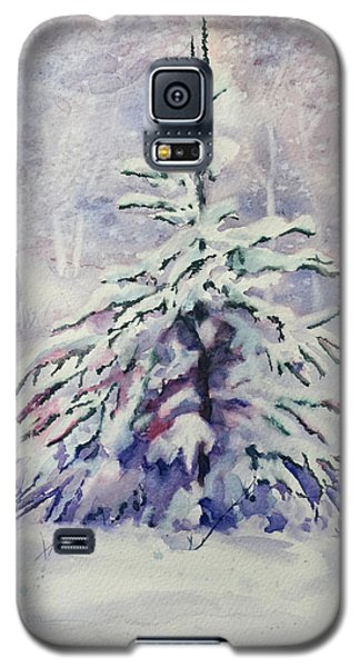 Galaxy S5 Case featuring the painting The Little Backyard Tree by Karen Mattson