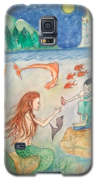 The Little Mermaid Galaxy S5 Case by Veronica Rickard