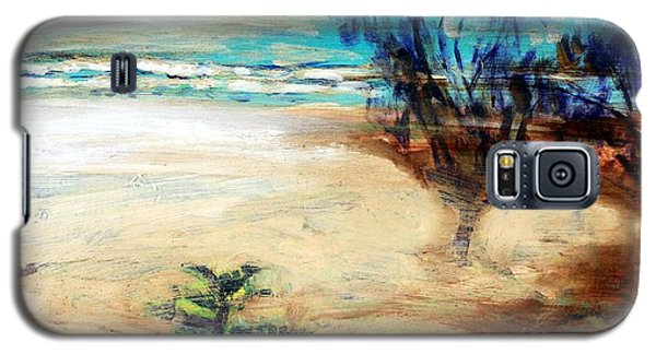 Galaxy S5 Case featuring the painting The Little Pine Tree by Winsome Gunning