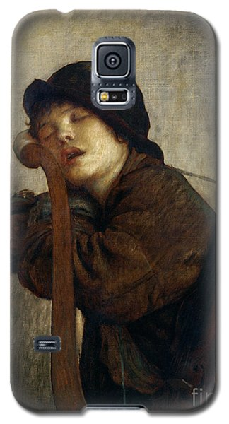 Violin Galaxy S5 Case - The Little Violinist Sleeping by Antoine Auguste Ernest Hebert