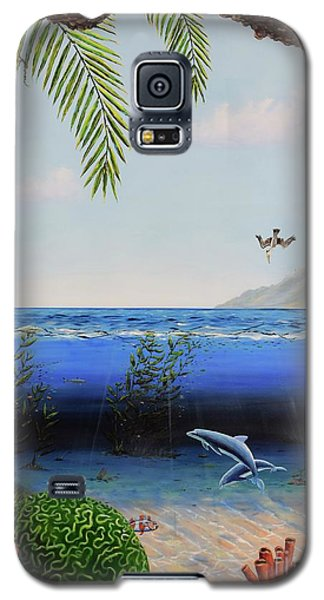 Galaxy S5 Case featuring the painting The Living Ocean by Mary Scott