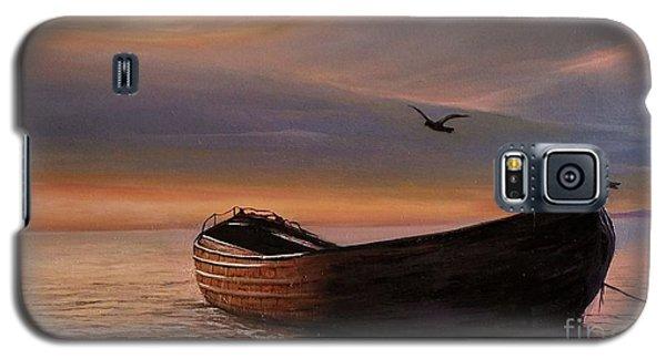 A Lone Boat Galaxy S5 Case