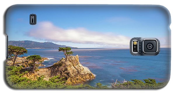 Galaxy S5 Case featuring the photograph The Lone Cypress Pebble Beach by Scott McGuire