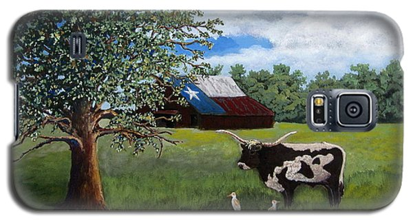 Galaxy S5 Case featuring the painting The Lone One Plus 2 by Suzanne Theis