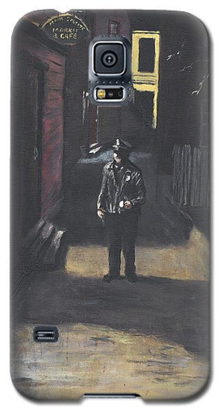 Galaxy S5 Case featuring the painting The Lonely Beat by Jack Skinner