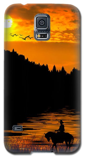 Galaxy S5 Case featuring the photograph The Lonesome Cowboy by Diane Schuster
