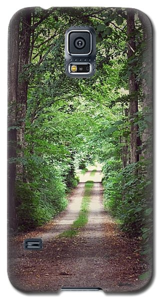 Galaxy S5 Case featuring the photograph The Long Driveway by Karen Stahlros