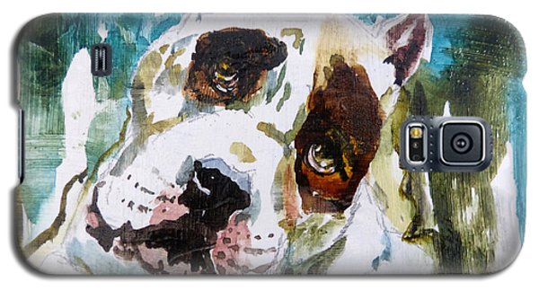 Galaxy S5 Case featuring the painting The Look Of Love by P Maure Bausch