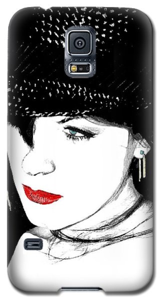 Galaxy S5 Case featuring the painting The Look by Tbone Oliver