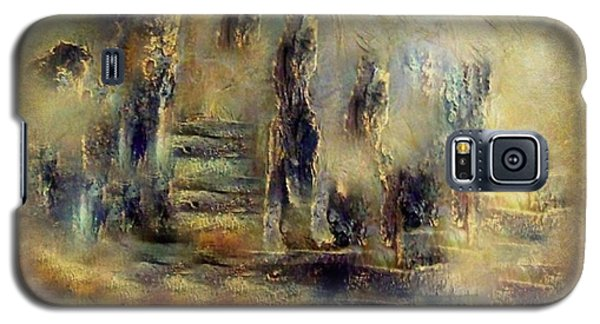 Galaxy S5 Case featuring the painting The Lost City By Sherriofpalmsprings by Sherri  Of Palm Springs