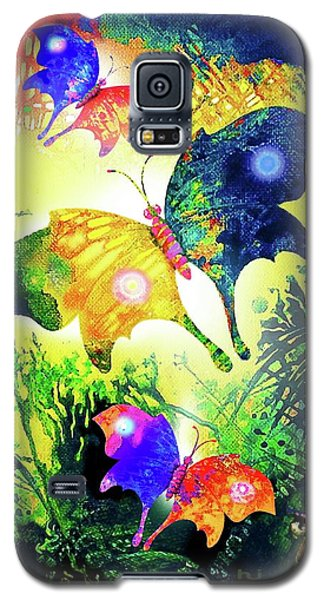 Galaxy S5 Case featuring the painting The Magic Of Butterflies by Hartmut Jager