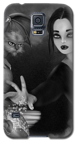 The Magic Rose - Black And White Fantasy Art Galaxy S5 Case