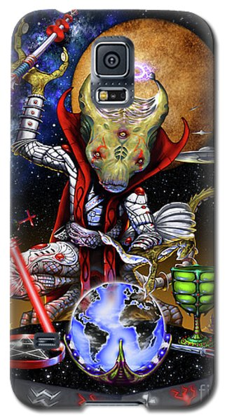 Galaxy S5 Case featuring the digital art The Magician 78 Tarot Astral Card by Stanley Morrison