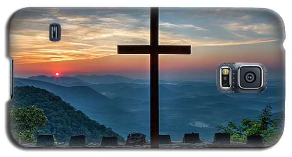 The Magnificent Cross Pretty Place Chapel Greenville Sc Great Smoky Mountains Art Galaxy S5 Case