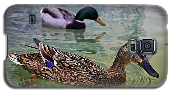 Galaxy S5 Case featuring the photograph The Mallard Pair by Mary Machare