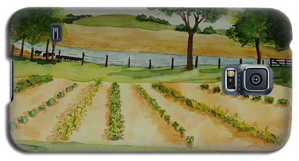 Galaxy S5 Case featuring the painting The Mangan Farm  by Vicki  Housel