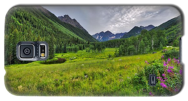 Galaxy S5 Case featuring the photograph The Maroon Bells - Maroon Lake - Colorado by Photography By Sai
