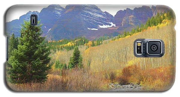 Galaxy S5 Case featuring the photograph The Maroon Bells Reimagined 3 by Eric Glaser
