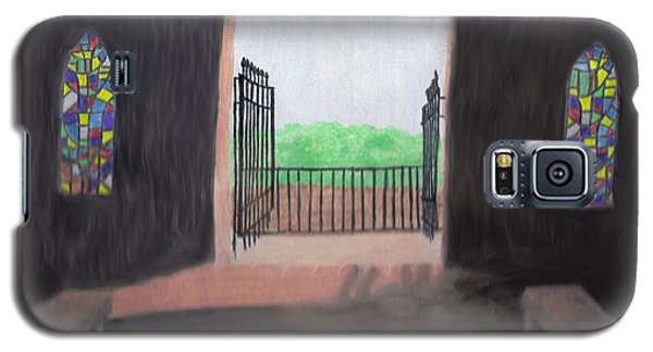 Galaxy S5 Case featuring the drawing The Mausoleum by Jean Haynes