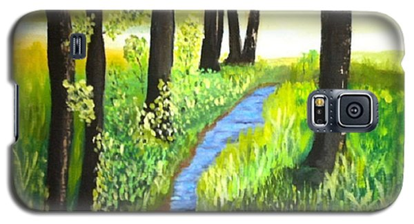 Galaxy S5 Case featuring the painting The Meadow by Rod Jellison
