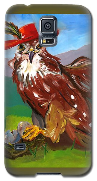 Galaxy S5 Case featuring the painting The Merlin by Susan Thomas