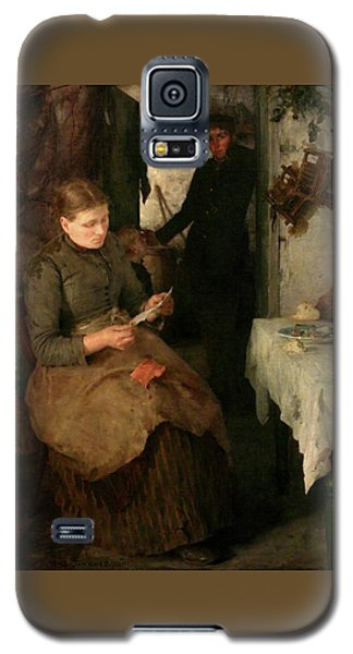 Galaxy S5 Case featuring the painting The Message by Henry Scott Tuke