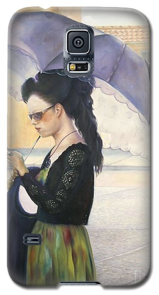 Galaxy S5 Case featuring the painting The Message by Marlene Book