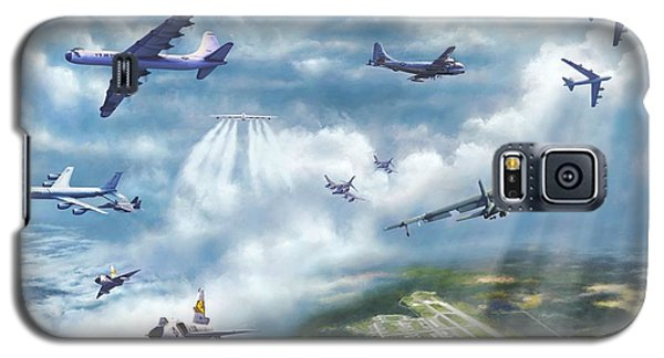 Galaxy S5 Case featuring the painting The Mighty Loring A F B by Dave Luebbert