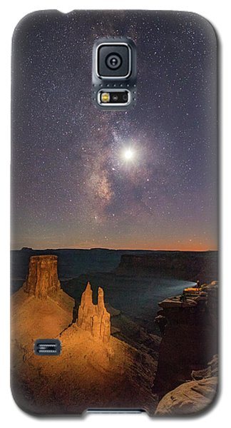 The Milky Way And The Moon From Marlboro Point Galaxy S5 Case
