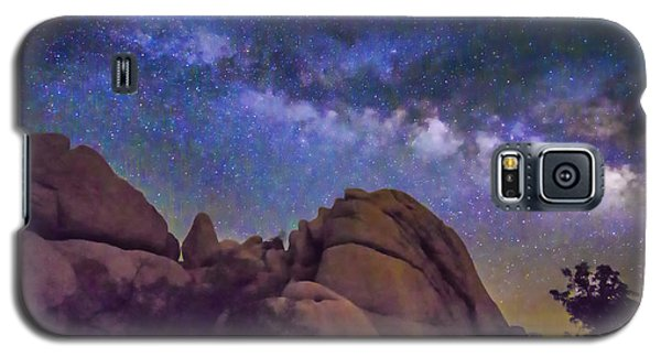 Milky Way Over Indian Rock Galaxy S5 Case