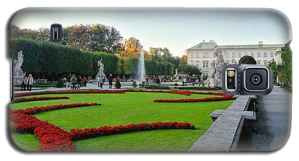 Galaxy S5 Case featuring the photograph The Mirabell Palace In Salzburg by Silvia Bruno