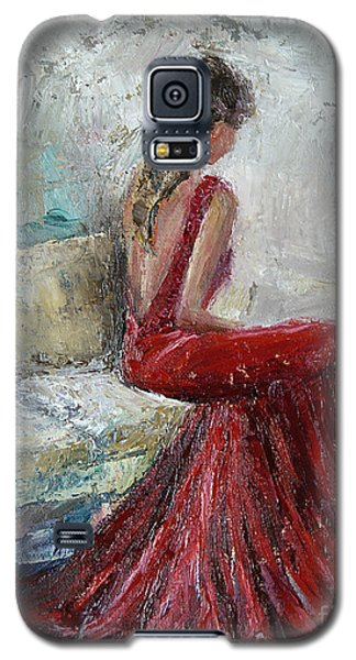 Galaxy S5 Case featuring the painting The Moment by Jennifer Beaudet