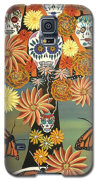 The Monarch's Tree Of Life And The Dead - Day Of The Dead Galaxy S5 Case