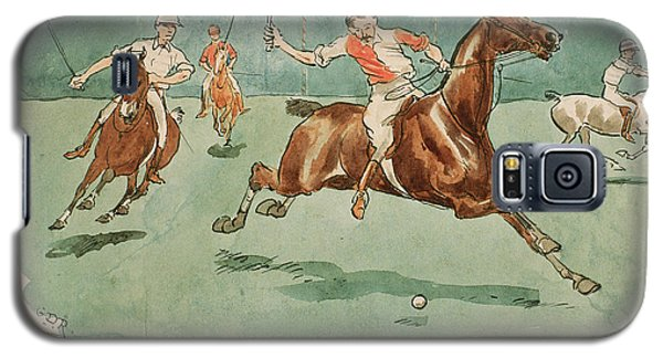 Sport Art Galaxy S5 Case - The Month Of June  Polo by George Derville Rowlandson