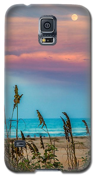 The Moon And The Sunset At South Padre Island 11 By 14 Crop Galaxy S5 Case by Micah Goff