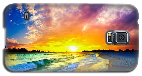 Galaxy S5 Case featuring the photograph The Most Beautiful Sunset In The World by Eszra Tanner