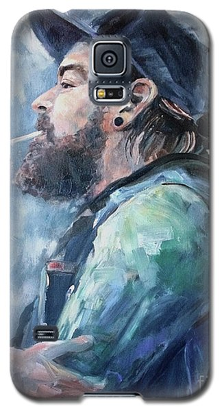 Galaxy S5 Case featuring the painting The Music Man by Diane Daigle