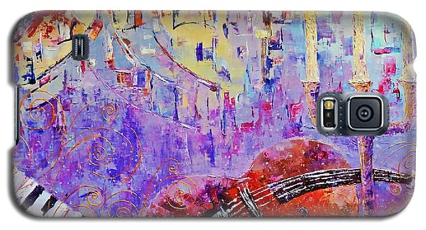 Galaxy S5 Case featuring the painting The Music Of The Silence by AmaS Art