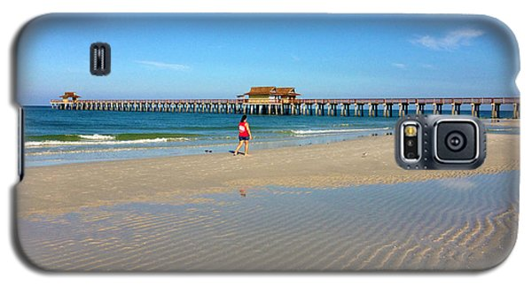 The Naples Pier At Low Tide Galaxy S5 Case by Robb Stan