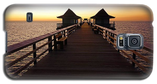 The Naples Pier At Twilight - 01 Galaxy S5 Case