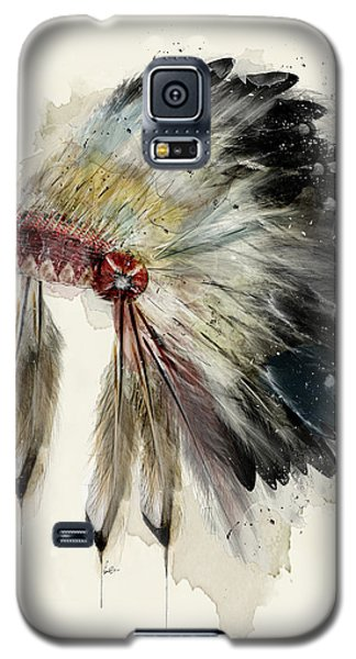 Galaxy S5 Case featuring the painting The Native Headdress by Bri B