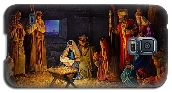 Galaxy S5 Case featuring the painting The Nativity by Greg Olsen