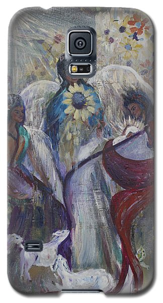 The Nativity Of The Angels Galaxy S5 Case by Avonelle Kelsey